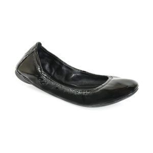 Tory Burch Eddie Patent Leather Ballet Flats Shoes